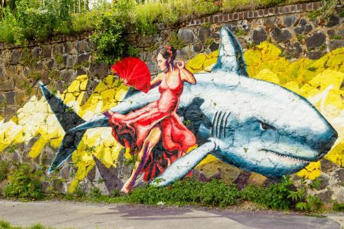 Street-Art am Rhein in Uerdingen
